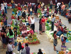Традиционен пазар Гватемала