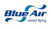Blu Air lowcost airline company logo