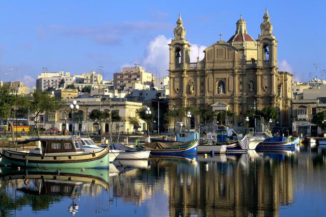 Гледка към столицата на Малта