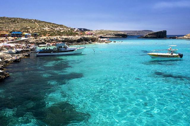 Залив в Малта