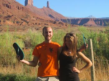 Сияна и Манол на Work and Travel USA, Utah